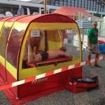 eine mobile Sauna